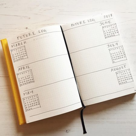 how to bullet journal - the future log
