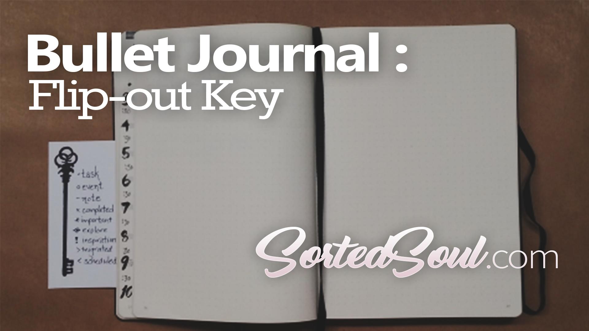 Bullet Journal Key Flap