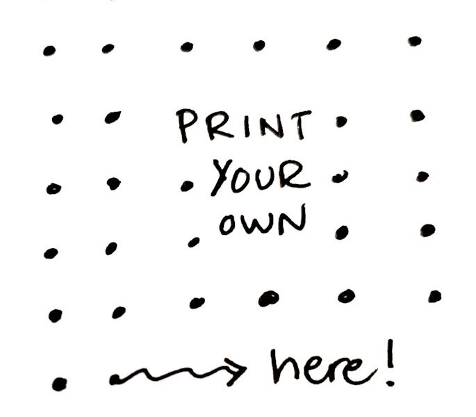 graphic about Dot Grid Printable identified as free of charge printable dot grid paper Archives Sorted Soul
