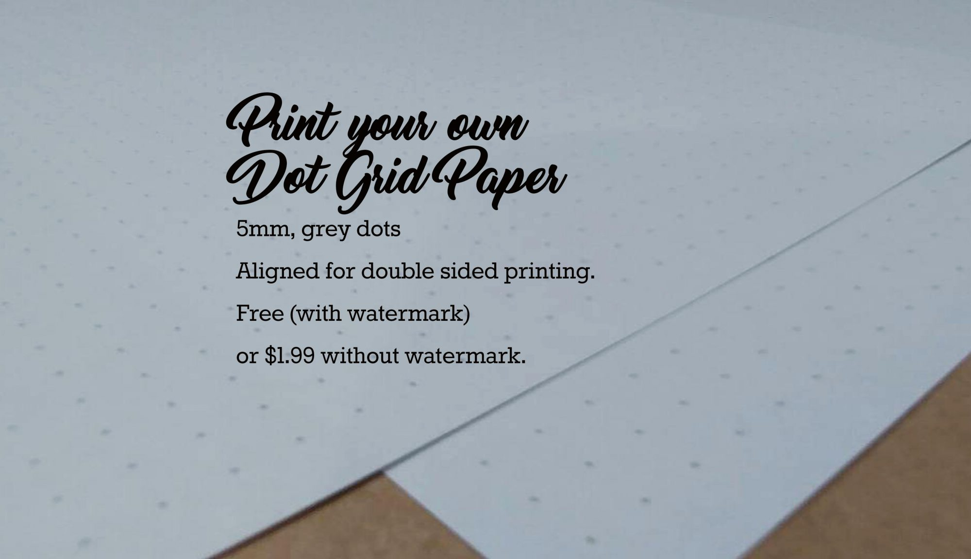 image about Free Printable Dot Grid Paper called Cost-free Printable Dot Grid Paper PDF - Letter Sizing and A5