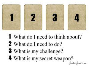 four card tarot spread daily draw secret weapon