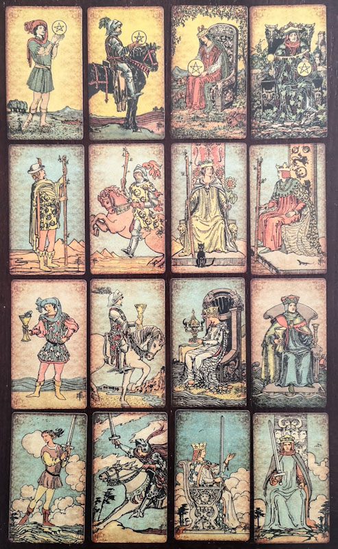 Tarot Court Cards - Pam's Vintage Tarot